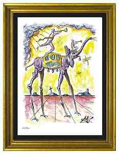 Salvador Dali Signed Hand Numbered Ltd Ed quot;Celestial Elephant quot; Print unframed $99.99