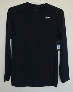 NWT Nike Men's Dri-Fit Dry Fitted Long Sleeve Tee Shirt Size M  748866