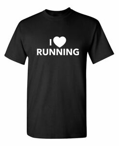 I Love Running Sarcastic Cool Graphic Gift Idea Adult Humor Funny TShirt $14.44