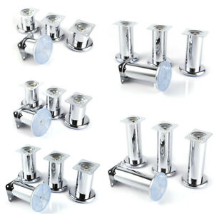 4pcs Modern Chrome  Adjustable Cupboard Table Couch Sofa Bed Feet Furniture Leg