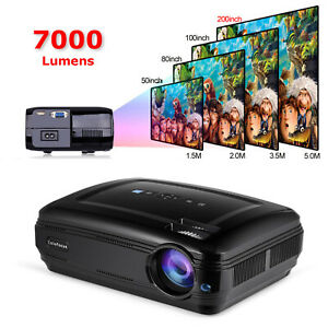 Full HD LED Projector 7000 lumens Support 1080P 3D Home Theater  Game Projector
