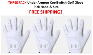 THREE PACK NEW Under Armour CoolSwitch Golf Glove Pick Hand & Size FREE SHIPPING