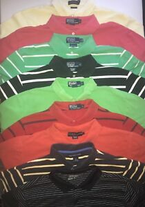 Lot 9 Large Men Shirt Polo By Ralph Lauren Custom Fit Sport Nike Golf Dry Fit
