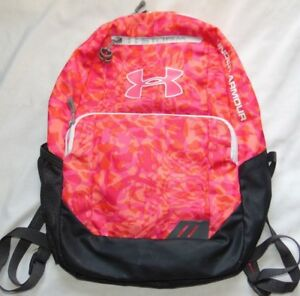 Youth Girls Pink Print UNDER ARMOUR Storm School Backpack Bag!
