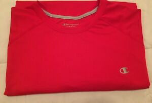 Champion Mens Compression Shirt 2XL Xxl Double Dry Red Athletic Fitness Exercise