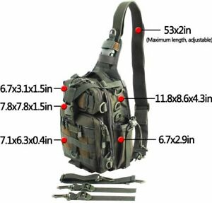 BLISSWILL Outdoor Multifunctional Tackle Bag Fishing Sports NEW