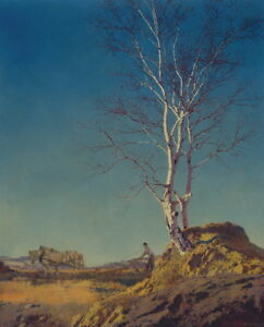 Maxfield Parrish White Birch Giclee Canvas Print Paintings Poster Reproduction