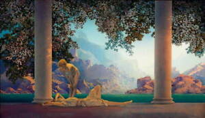 Maxfield Parrish Daybreak By Parrish Poster Reproduction Giclee Canvas Print $20.34