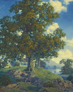 Maxfield Parrish Peaceful Valley Giclee Canvas Print Paintings Poster