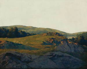 Maxfield Parrish Sheep Pasture Giclee Canvas Print Paintings Poster Reproduction