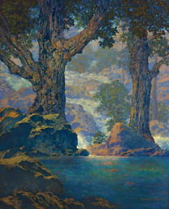 Maxfield Parrish Cascades Giclee Canvas Print Paintings Poster Reproduction