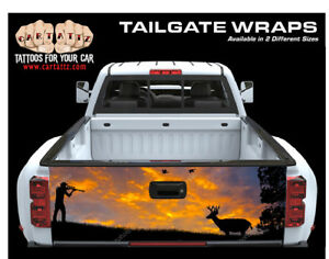 Deer Hunter Truck Tailgate Vinyl Graphic Decal Wrap