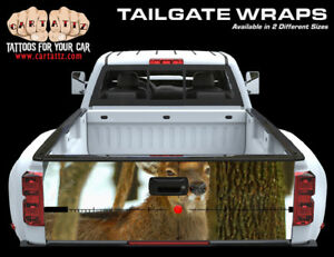 Deer Hunting Truck Tailgate Vinyl Graphic Decal Wrap