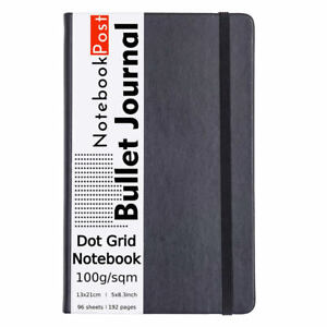 A5 Classic Dot Grid Notebook for Bullet Journal Black Dotted Paper Notebook Bujo