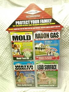 Pro-Lab Home Safety Test Kits For Mold Randon Gas Water Quality and Lead. NEW!
