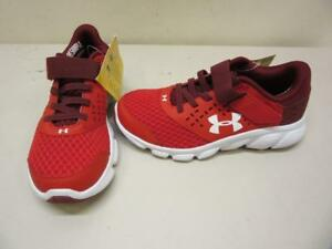 Youth Boys Under Armour BPS Rave RN AC SMS Sample Shoes - Size 1 Red Sneaker