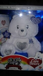 Care Bears 25th Anniversary Care Bear White Silver Tenderheart Special Edition