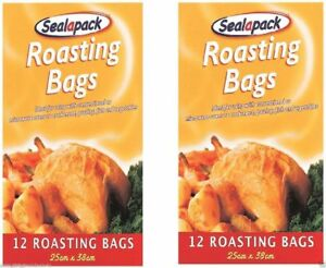 2 X 8 LARGE ROASTING BAGS MIRCOWAVE OVEN COOKING POULTRY CHICKEN MEAT FISH