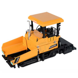 1:40 Paver Truck Construction Vehicle Model Alloy Diecast Toy Vehicle Yellow Kid