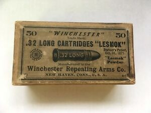EMPTY BOX OF WINCHESTER .32 LONG CARTRIDGES