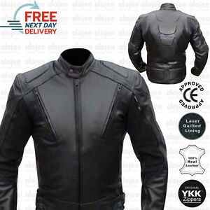 Genuine Leather Motorbike Motorcycle Jacket with CE Armours Protective GBP 84.95