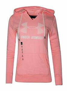 Under Armour Women's Favorite Fleece Hoodie UA Big Logo Athletic Hoody