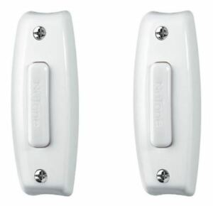 2 Broan Nutone PB7LWH White Wired Lighted Push Buttons for Door Bell Chimes