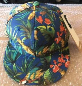 NWT Chaos Worldbeat SnapBack Hat Cap Tropical Print Rare & Unique New Era 9Fifty