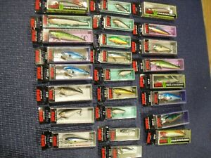 Huge Lot Of 25 Rapala Fishing Lures Nice Crankbaits New in the box Assortment