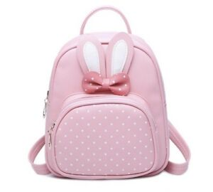 Mini Small Backpacks For Teenage Girls Bunny Cute Backpack Women Leather Bag