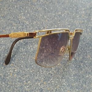 Cazal Gold & Brown Classic Designer Glasses Frames Design Made in Germany