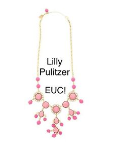Lilly Pulitzer Dew Drop Statement Necklace Pink