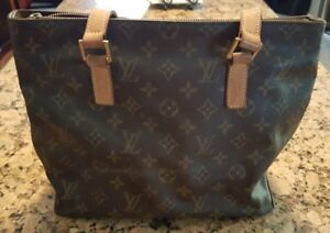 Auth LOUIS VUITTON Monogram Cabas Piano Tote shoulder bag-PROCEEDS GO TO CHARITY