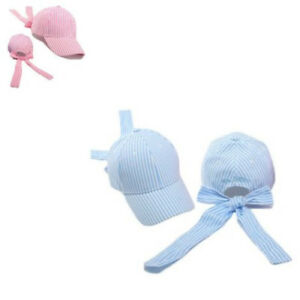 Striped Baseball Cap Cute Trendy Bow Tie Casual Summer Sun For Students Girl Boy