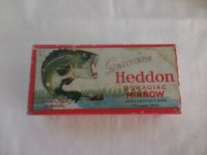 Old vintage EMPTY Heddon fishing lure box for 7309L perch jtd. Vamp Box