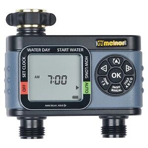 Electronic Water Timer 2 Zone Garden New