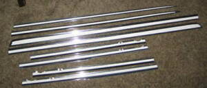 1962 Chevrolet Impala 4 door or Wagon Side Moldings Set (8) Reconditioned