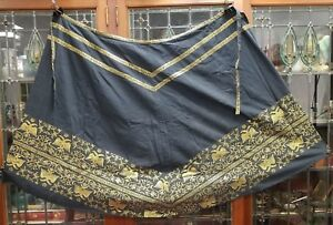 Antique Russian or Slavic Apron Skirt Double Headed Eagles Gold Metallic Thread