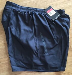 Nike Dri-Fit Solid Black Running Track Cycling Performance Shorts Size Large L