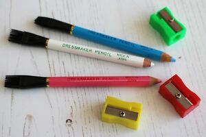 Dressmakers Fabric Marker Pencils with Tailors Chalk Lead One Free Sharpener GBP 2.95