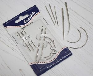 Assorted Set of Repair Hand Sewing Needles Curved amp; Straight x7 Needle Pack GBP 2.40