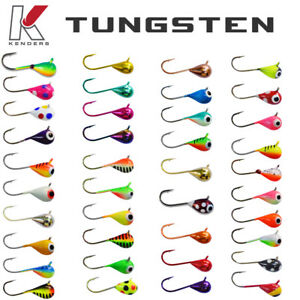 Tungsten Jigs 3mm 4mm 5mm 6mm Kenders Outdoors Ice Fishing Summer Fishing
