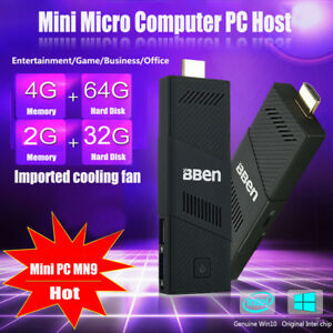 BBen MN9 Mini PC Windows10 WiFi Intel 1.83GHz Computer Atom TV Stick Quad Core #
