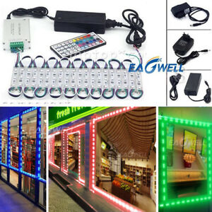 US RGB 10~1000FT 5050 SMD 3 LED Module STORE FRONT Window Sign Light Lamp Kit WQ