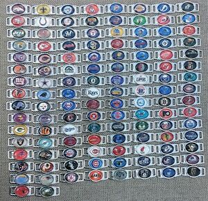 NFL MLB NHL NBA Oval Rounded Rectangular Charms For Shoelaces or Paracord $2.99