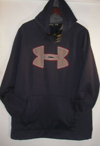 UNDER ARMOUR Storm XL Loose Fit Water Resistant Big Logo Hoodie NWT Navy Blue