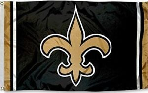 New Orleans Saints Football Flag Large 3#x27;X5#x27; NFL FREE SHIPPING New Condition