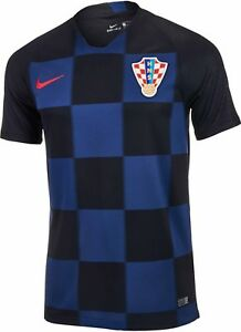 Nike Croatia Away Black Navy Dri-Fit World Cup 2018 Shirt Mens Sizes S M L XL