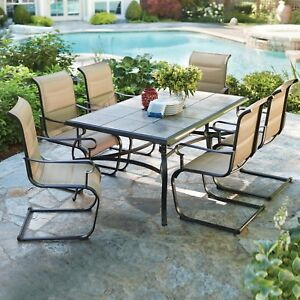 Hampton Bay Dining Set Weather Resistant Powder-Coated Frame Antique Bronze
