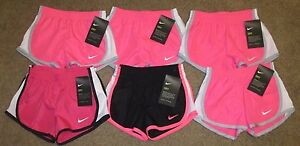 NEW 6 Toddler Girls Nike Dri-Fit Running Athletic Shorts Black Pink White 3T NWT